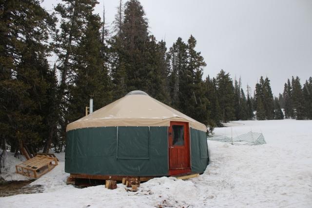 The Geyser Pass Yurt from Talking Mountain Yurts.